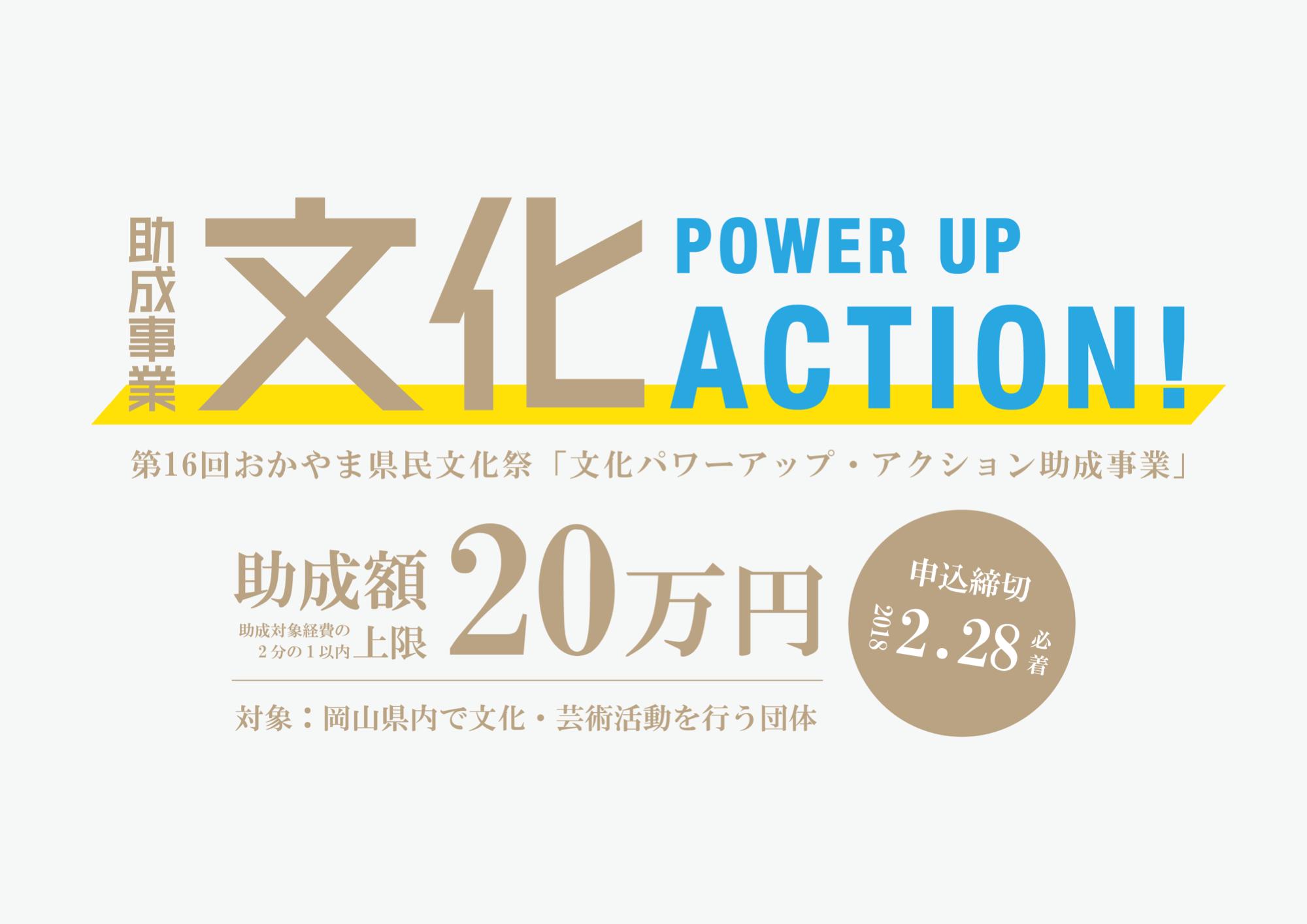 文化パワーアップ・アクション助成団体募集